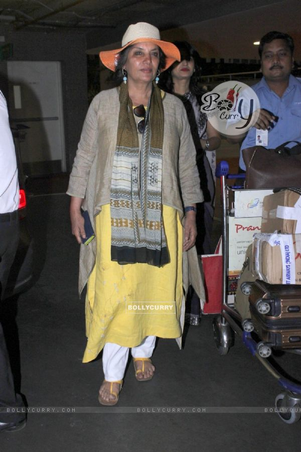Shabana Azmi snapped at Airport