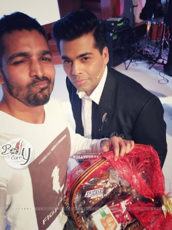 Harshvardhan Rane with Karan Johar