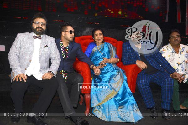 Mika Singh & Pritam Chakraborty on the sets of 'Sa Re Ga Ma Pa 2016'