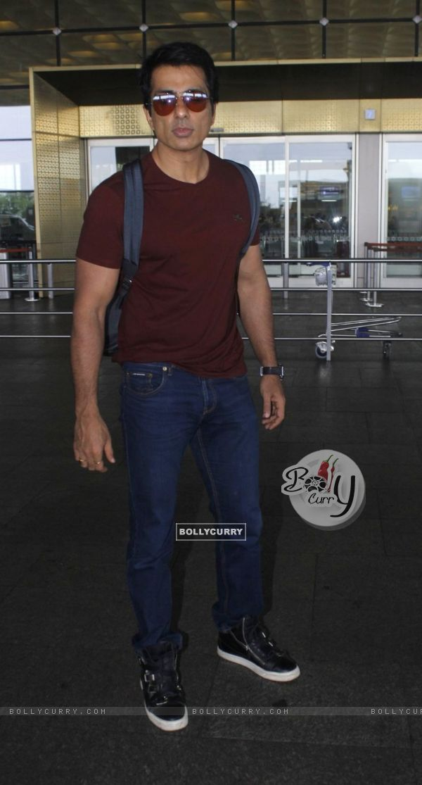 Sonu Sood snapped at airport
