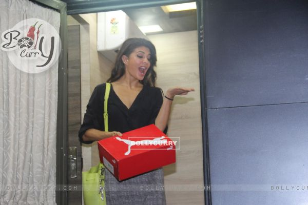 Jacqueline Fernandes snapped post Dishoom promotions