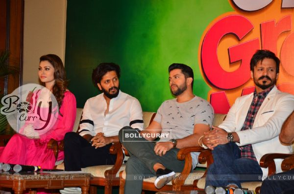 Riteish, Urvashi, Vivek and Aftab at Press meet of 'Grand Masti' on Piracy Issue (412466)