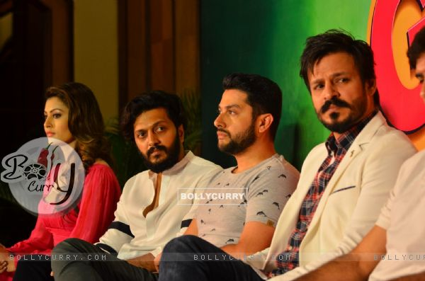 Riteish, Urvashi, Vivek and Aftab at Press meet of 'Grand Masti' on Piracy Issue (412468)