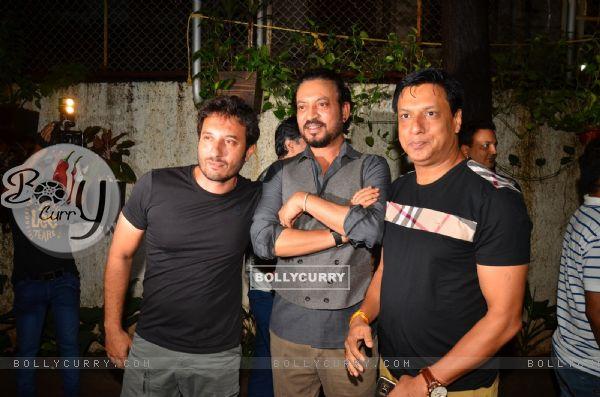 "Irrfan Khan and Jackky Bhagnani at Special screening of the film ""Madaari"""