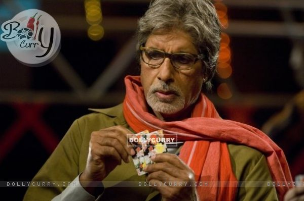 Amitabh Bachchan playing cards (41290)