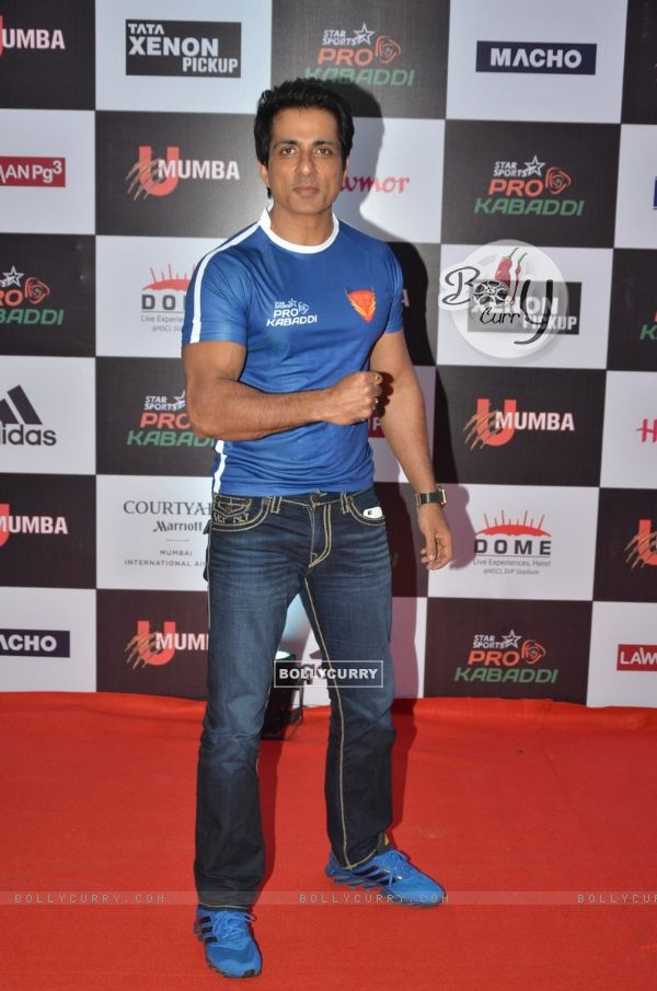 Sonu Sood at Pro Kabaddi Match