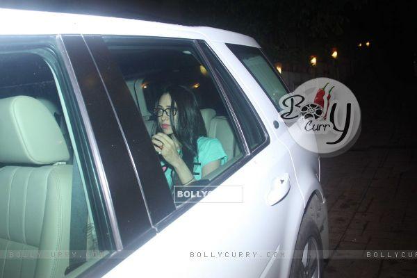 Karishma Kapoor snapped outside Kareena's house