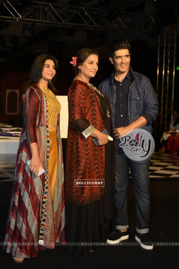 Shabana Azmi and Manish Malhotra at India Couture Week