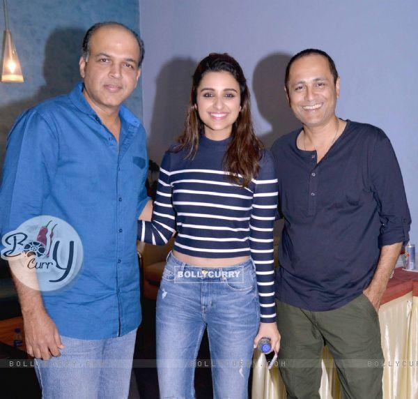 Ashutosh Gowarikar and Parineeti Chopra at Special screening of the film 'Dishoom'