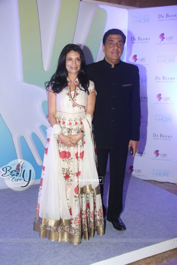 Ronnie Screwvala with his wife at Jewellers for Hope Charity Dinner event