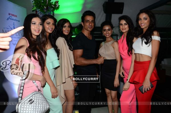 Sonu Sood with others atLaunch of Yamaha Fascino Miss Diva 2016