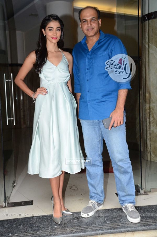 Pooja Hegde and Ashutosh Gowariker snapped