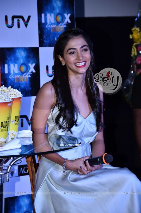 Pooja Hegde Surprise their fans by INOX Theatre