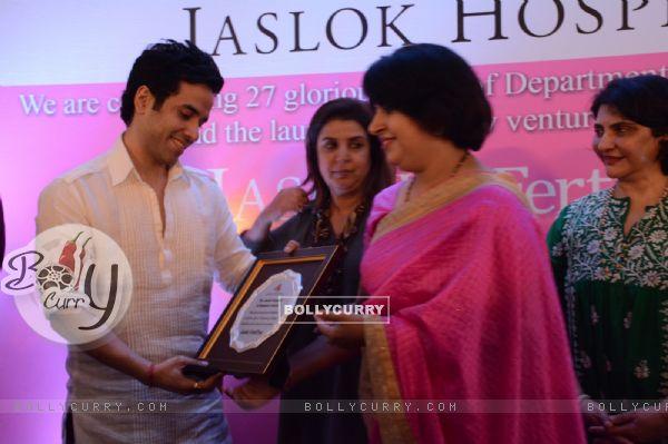Tusshar Kapoor and Farah Khan at Jaslok Fertil Tree Launch Event