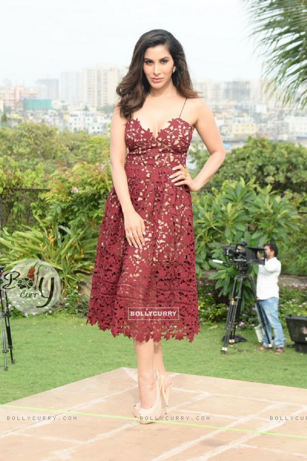 Sophie Choudry during the shoot of the 2nd episode of Yamaha Fascino Miss Diva 2016