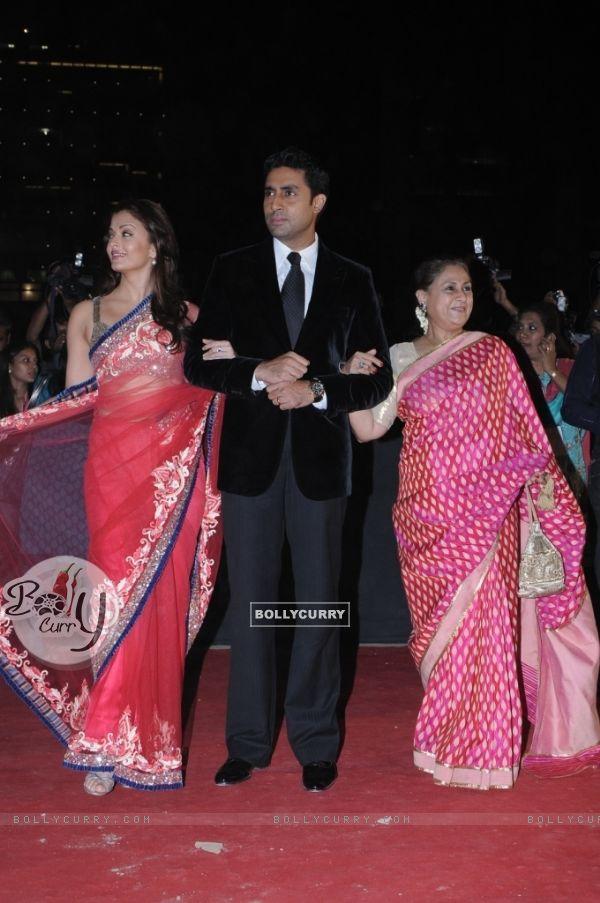 Abhishek Bachchan with wife Aishwarya and mother Jaya