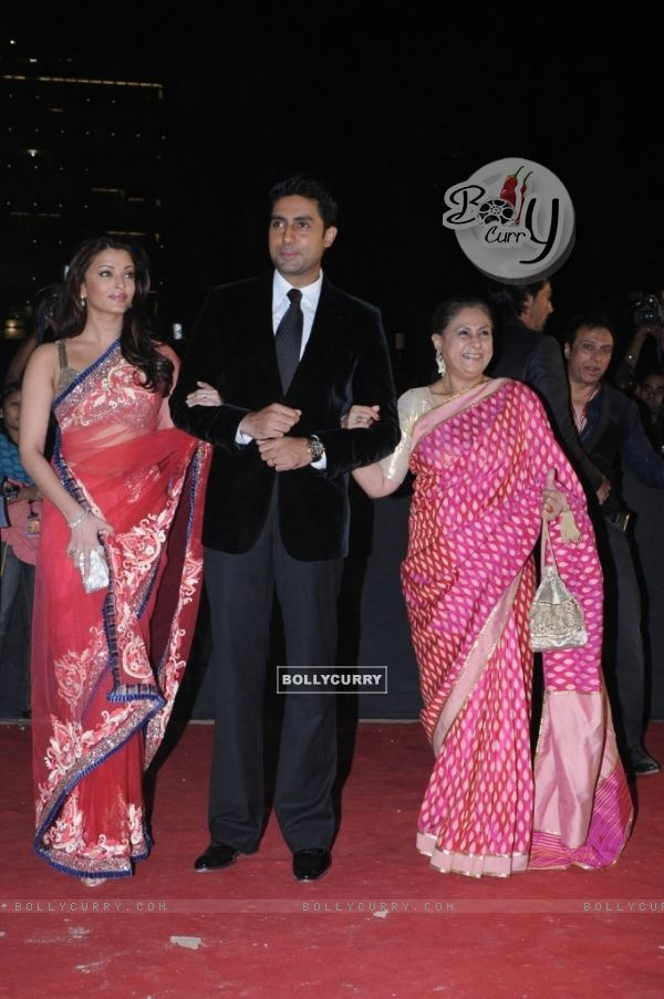 Abhishek Bachchan with wife Aishwarya Rai and mother Jaya