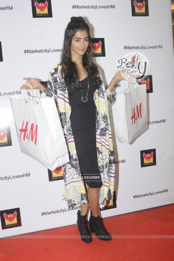 Pooja Hegde at H & M store launch at Phoenix Market City