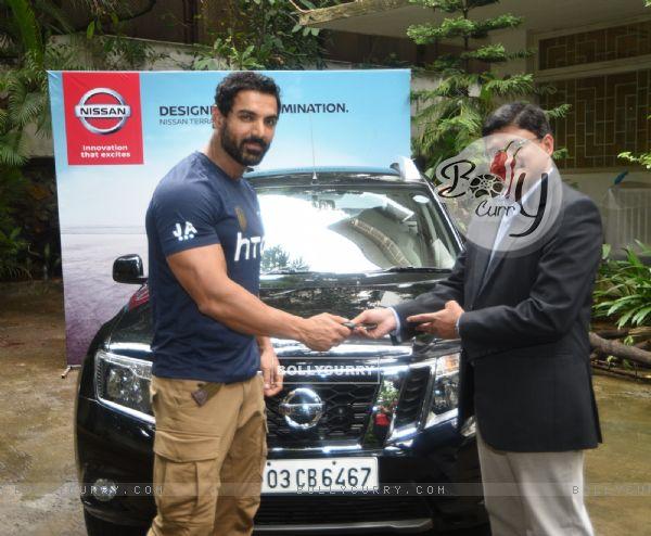 Nissan brand ambassador John Abraham becomes a proud owner of Nissan Terrano