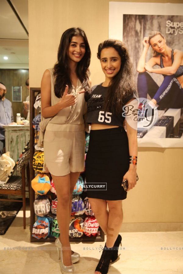 Pooja Hegde and Namrata Purohit at Launch of Superdry's AW'16 Sport Collection