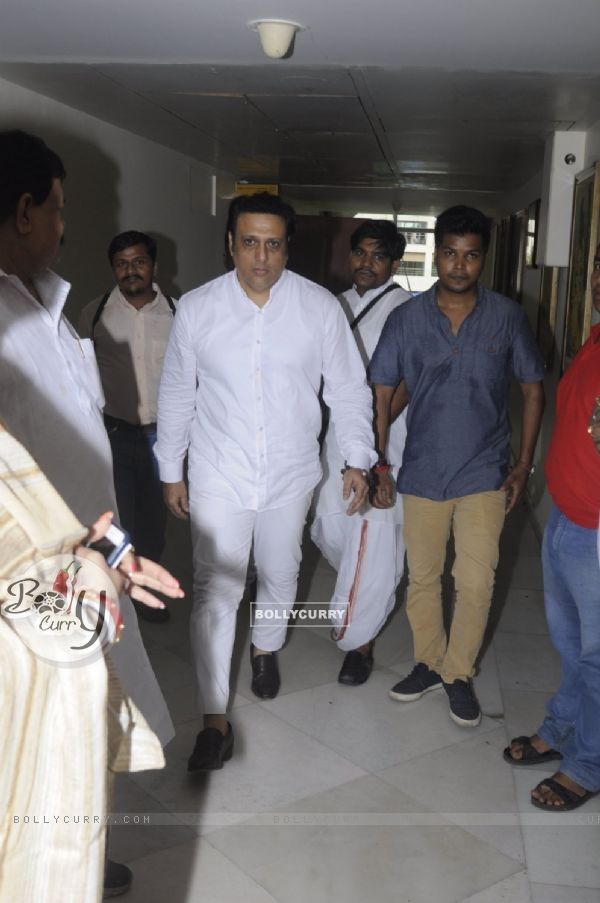 Govinda at Prayer meet of Krushna Abhishek's father!