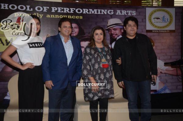 Anushka Ranjan, Shashi Ranjan, Farah Khan and Sajid Khan at ITA school event 2016