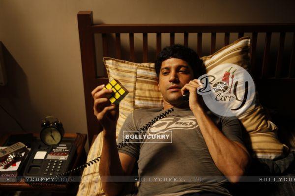 Farhan Akhtar in the movie Karthik Calling Karthik