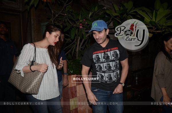 Saif Ali Khan and Kareena Kapoor snapped post dinner
