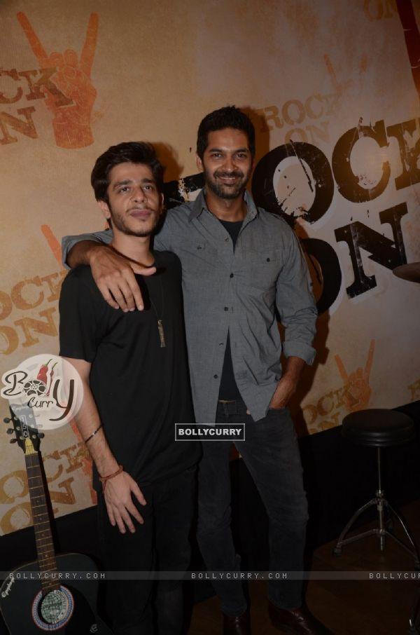 Purab Kohli and Shashank Arora at Teaser Launch of ROCK ON 2!