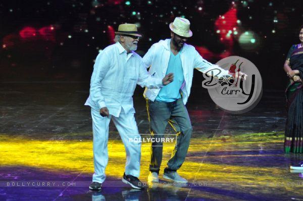 Prabhu Dheva dances with Mugur Sundar at Promotion of film 'Tutak Tutak Titiya' on Dance Plus 2