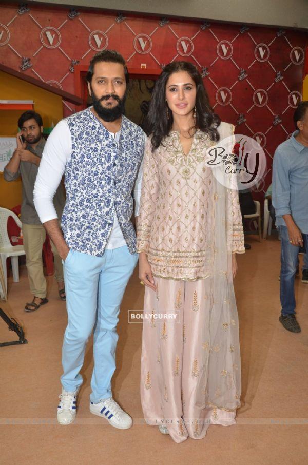 Riteish Deshmukh and Nargis Fakhri at Promotion of 'Banjo' on The Voice India Kids