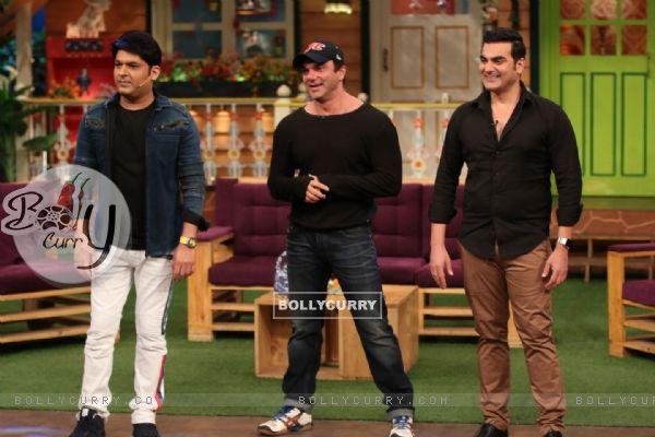 Kapil Sharma, Sohail Khan and Arbaaz Khan at Promotion of 'Freaky Ali' on The Kapil Sharma