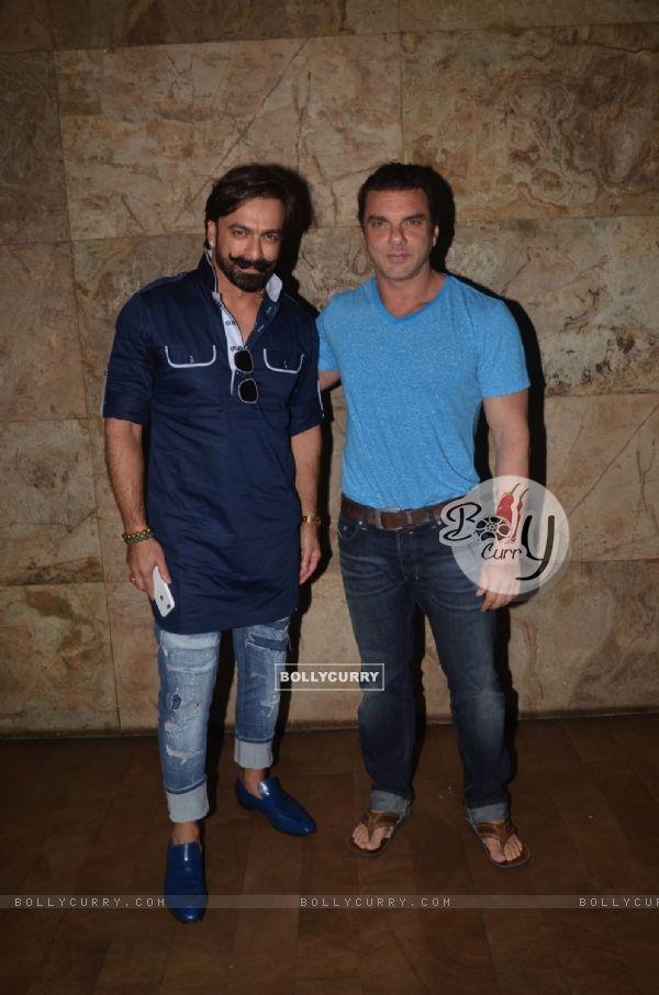 Sohail Khan and Jas Arora at Special Screening of 'Freaky Ali'