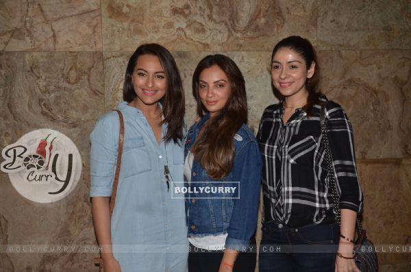 Sonakshi Sinha and Bhavna Pandey at Special Screening of 'Freaky Ali'