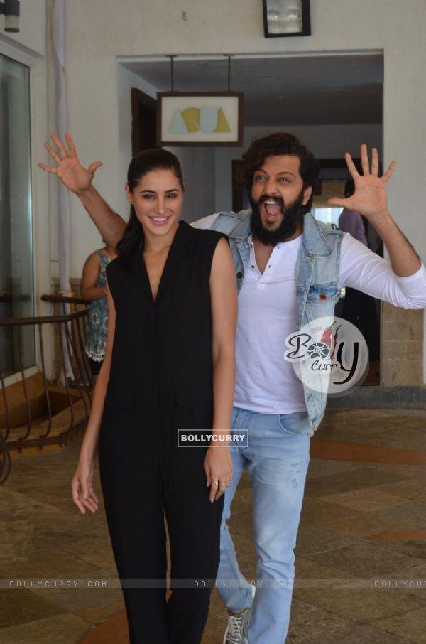 Nargis Fakhri and Riteish Deshmukh at Promotion of 'Banjo'