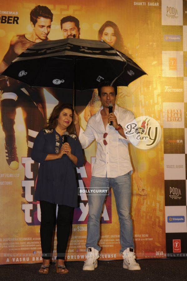 Farah Khan and Sonu Sood at Trailer Launch of 'Tutak Tutak Tutiya'