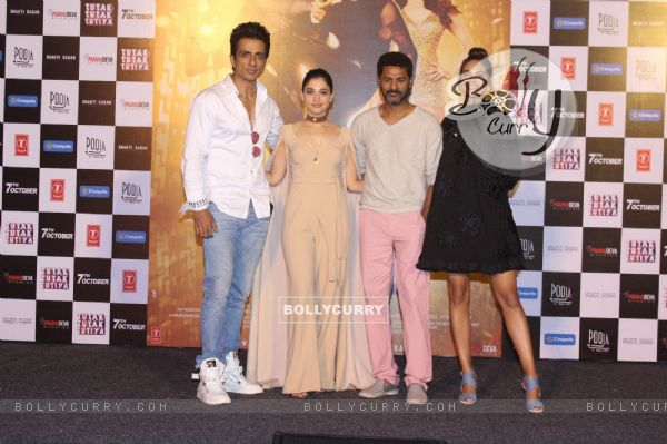 Sonu Sood, Tamannaah Bhatia, Esha Gupta and Prabhu Dheva at Trailer Launch of 'Tutak Tutak Tutiya'