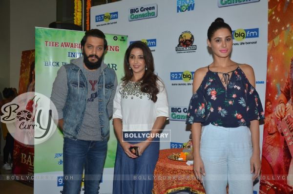 Riteish Deshmukh, Nargis Fakhri and Krishika Lulla at Promotion of 'Banjo' at Big FM Studio