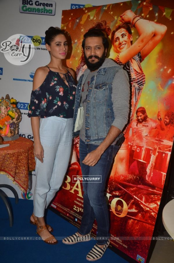 Nargis Fakhri and Riteish Deshmukh at Promotion of 'Banjo' at Big FM Studio