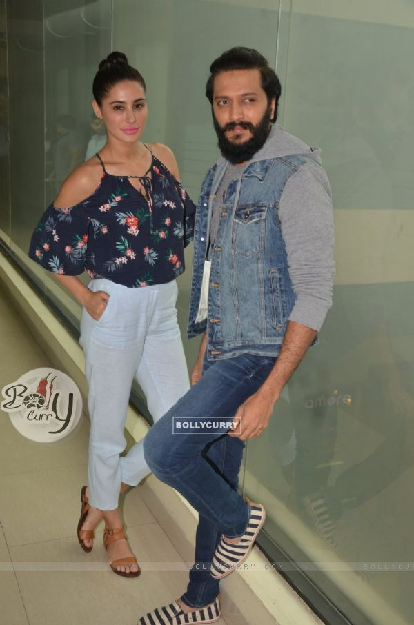 Riteish Deshmukh and Nargis Fakhri at Promotion of 'Banjo' at Big FM Studio