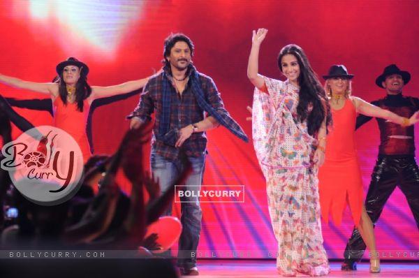 Arshad and Vidya in tv show Music Ka Maha Muqqabla