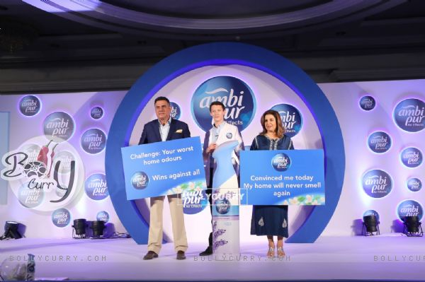 Boman Irani and Farah Khan promote Ambi Pur