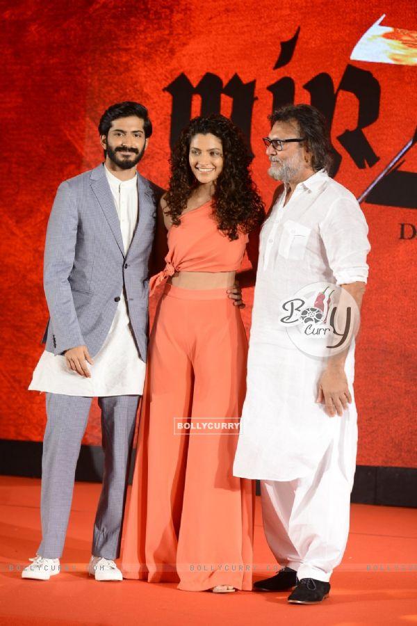 Harshvardhan Kapoor, Saiyami Kher and Rakeysh Omprakash Mehra at Music launch of film 'Mirzya'