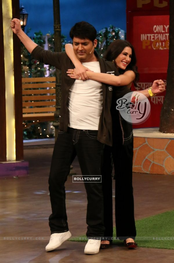 Nargis Fakhri and Kapil Sharma at Promotion of 'Banjo' on Sets of The Kapil Sharma Show