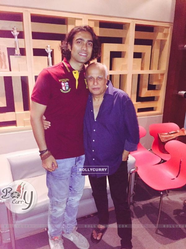 Jubin Nautiyal with Mahesh Bhatt