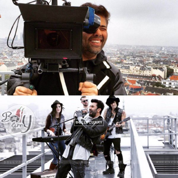 Karan Johar holds the camera for fun