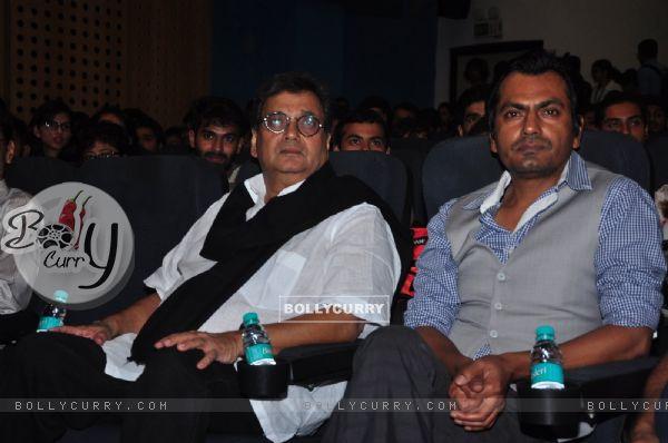 Nawazuddin Siddiqui and Subhash Ghai at Whistling Woods