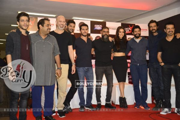 Farhan Akhtar, Arjun Rampal and Ehsaan Noorani at Music Launch of 'Rock On 2'