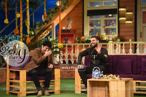 Yuvraj Singh visit on sets of 'The Kapil Sharma Show'