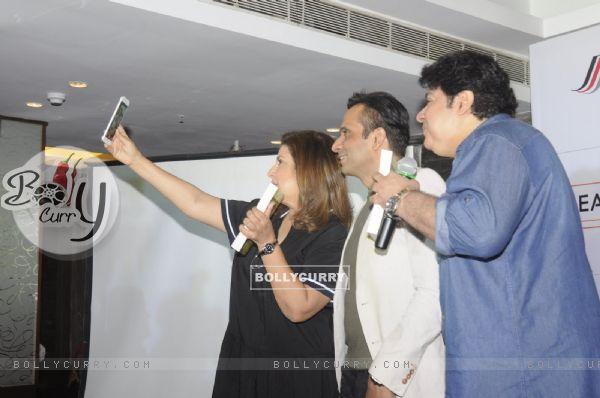 Farah Khan and Sajid Khan at Launch of Jeet Gian book- The Three Wise Monkeys